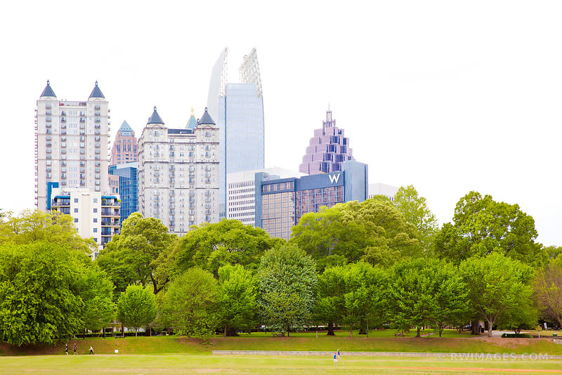 PIEDMONT PARK AND MIDTOWN ATLANTA GEORGIA COLOR