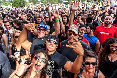 HOUSTON, 24t and 25th September 2016: People having fun between the mandatory Code Red storm evacuations, at Houston Open Air