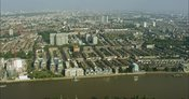 London Aerial Footage of Hammersmith towards Earls Court.