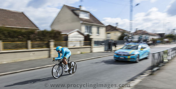 The Cyclist Daniil Fominykh- Paris-Nice 2016