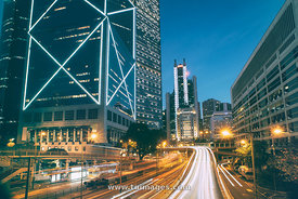 Hong Kong, Central at night