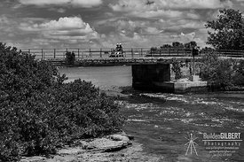 Flatt's Bridge - B&W
