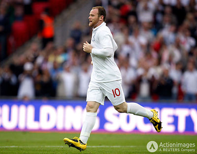 Football - England v Andorra 2010 World Cup Qualifying European Zone - Group Six - Wembley Stadium, London, England - 10/6/09.Wayne Rooney celebrates scoring the first goal for England.Mandatory Credit: Action Images / Steven Paston.Livepic
