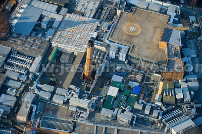 London. Aerial view of the roof of Harrods