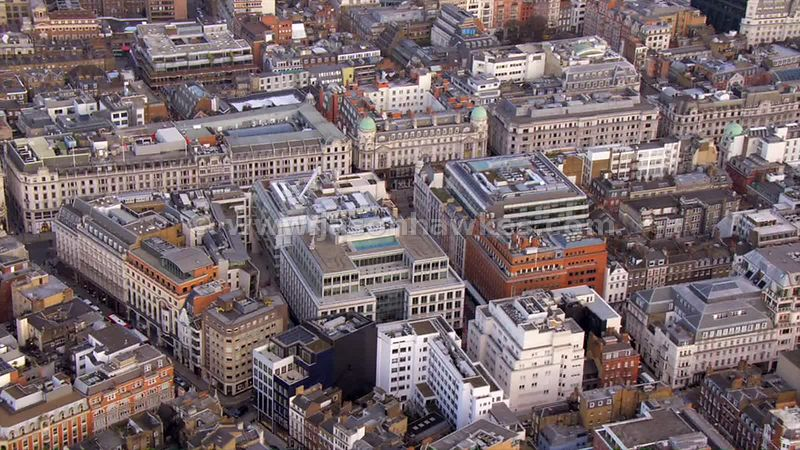 Aerial footage of Westminster
