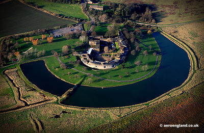 aerial photograph of Coalhouse Fort Essex England U Essex England UK