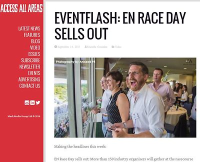 Access All Areas website - Exhibition News  Race Day - September 2017