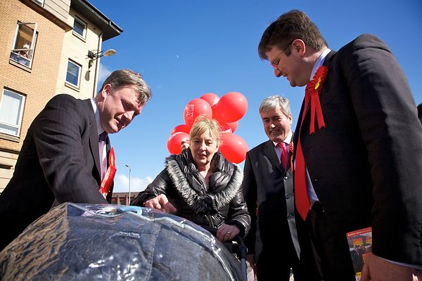 Labour campaign in Glasgow Southside