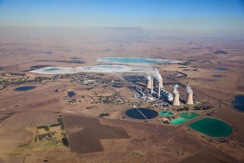Aerial photo of Mpumalanga power station, South Africa, May 2010