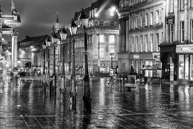 Grey Street in the Rain.
