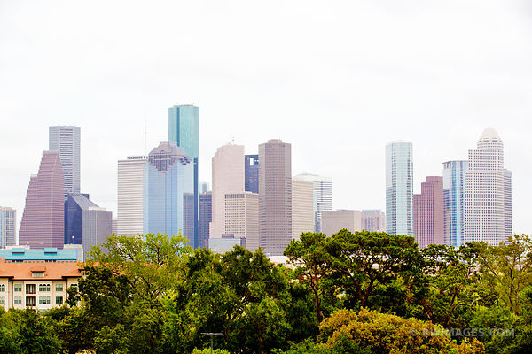 DOWNTOWN HOUSTON SKYLINE COLOR