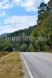 Rural Highway in Arkansas Mountains