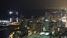 Bird's Eye: Fireworks Over High-Rises & Navy Pier