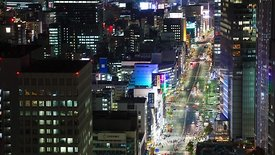 Bird's Eye: A Close Crop of Tokyo Traffic At Night