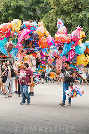 Street Vendors with Balloons