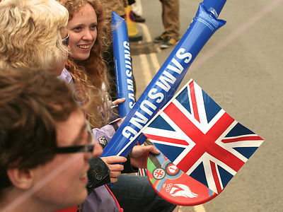 Olympic Torch Relay Flags and Samsung Inflatables