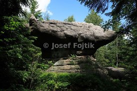 Rock formation, Broumov Walls, Czech Republic