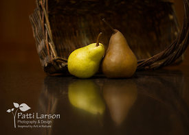 Pear Reflections  and a Basket
