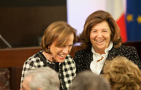 Italian Welfare minister Elsa Fornero (left) and Defence minister Anna Maria Cancellieri