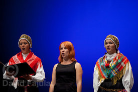 Grudnove Šmikle Choir (Železniki) singing in Cantonigròs International Music Festival