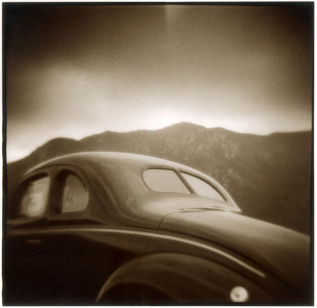 Vintage Car in sepia