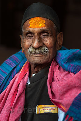Portrait of a pilgrim in Pushkar, India during Kartik Purnima, Full Moon Puja, November 2012.
