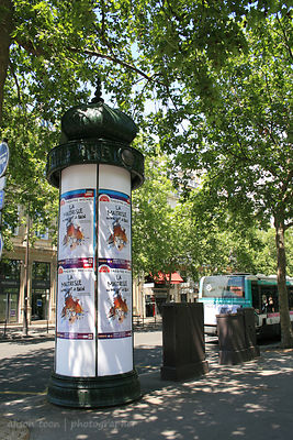 Street advertising and posters in Paris, France