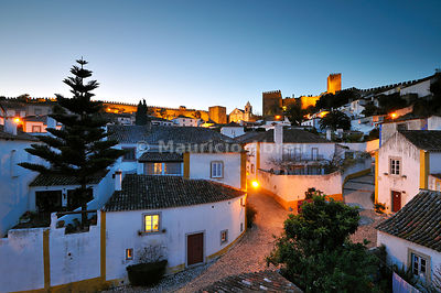 Óbidos at dusk. One of the most picturesque medieval villages in Portugal