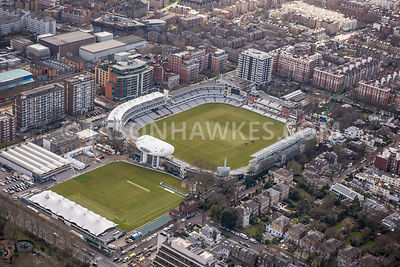 Aerial view of London, St Johns Wood, Lords Cricket Ground.