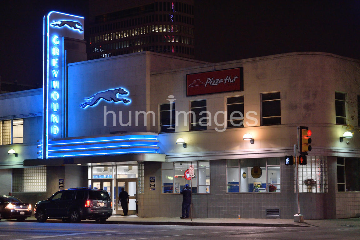 Greyhound Bus Station in downtown Dallas