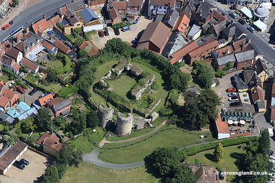 aerial photograph of  Bungay Castle  Suffolk England UK