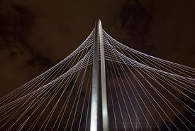 MHH Bridge Arch and Cables at Night