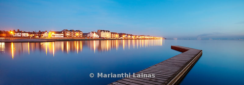 West Kirby seafront evening panoramic