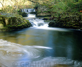 waterfall river nedd near ystradfellte brecon beacons national park wales