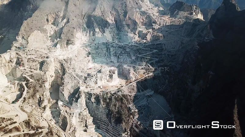 Vast Open Pit Marble Quarry of Carrera Italy