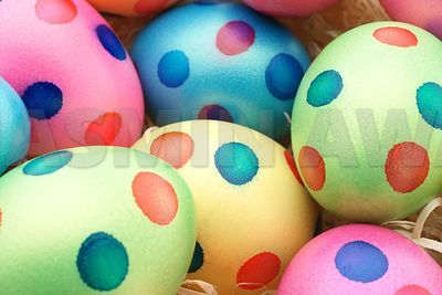 Easter Eggs with dots