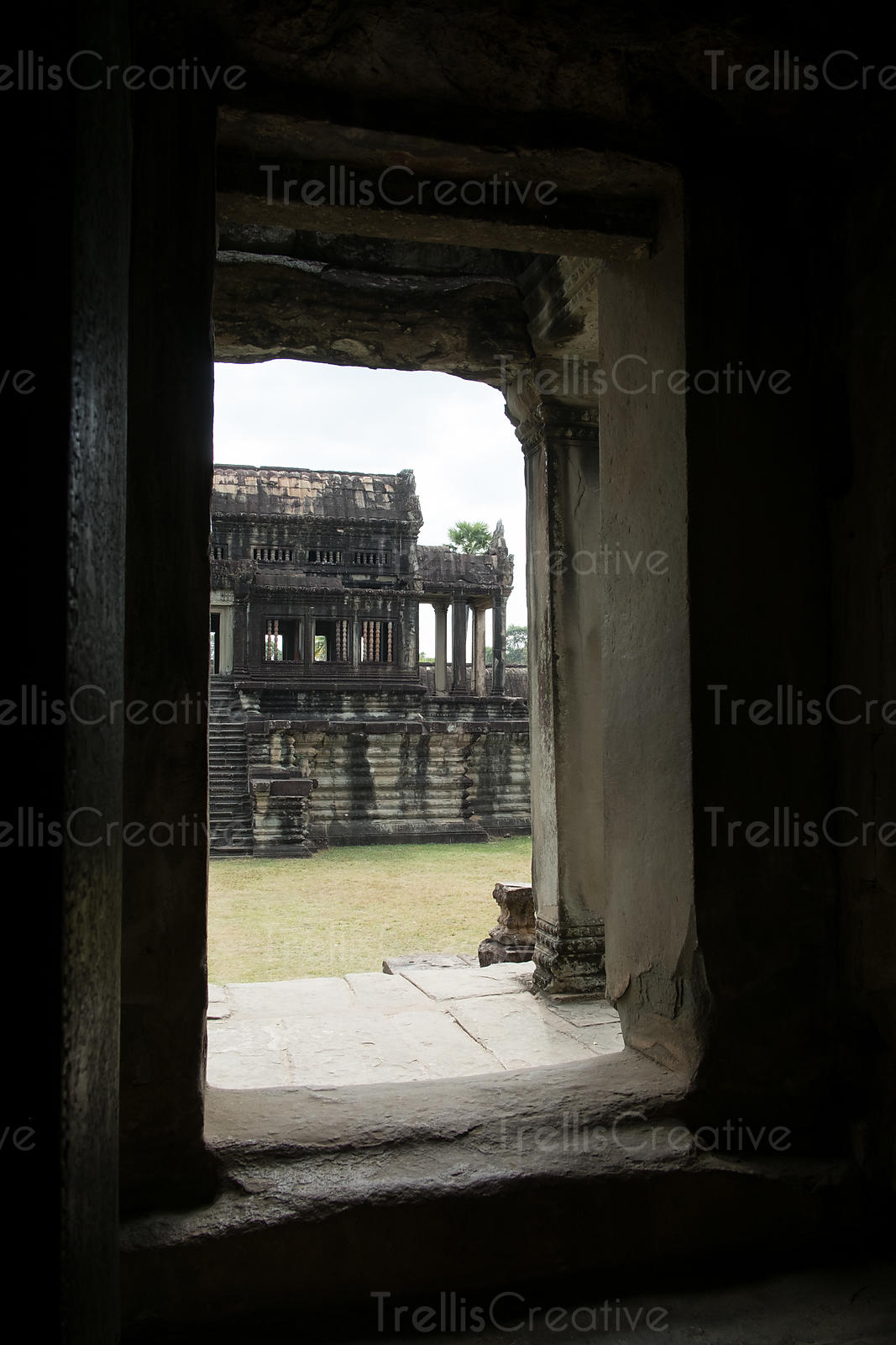 Entrance of an old ancient temple at Angkor Wat