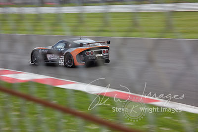 Academy Motorsport's Ginetta G55 GT4 in action at the Silverstone 500 - the third round of the British GT Championship 2014 - 1st June 2014