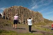 Visitors at the Giants Causeway, Northern Ireland.