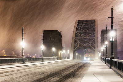 Snowy Tyne Bridge