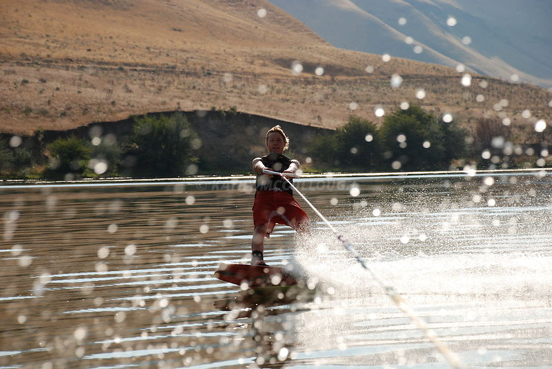 Slalom skiing in eastern Oregon