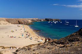 Playa Mujeres Beach, Papagayo Peninsula, Playa Blanca, Lanzarote, Canary Islands, Spain.