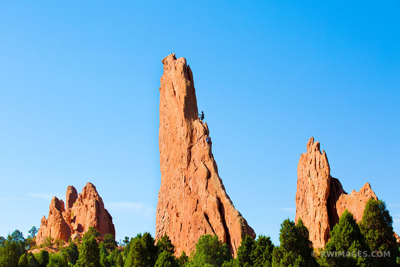 ROCK CLIMBERS GARDEN OF THE GODS COLORADO SPRINGS COLORADO