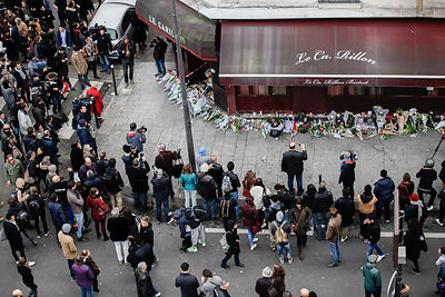 The day after terrorist attack in Paris