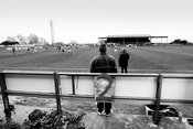 Albion Rovers..Cliftonhill Stadium, Coatbridge..22.2.14.Albion 0-0 Peterhead.A good draw against top of the table Peterhead..Laptop courtesy of Garry MacHarg..Picture Copyright:.Iain McLean,.79 Earlspark Avenue,.Glasgow.G43 2HE.07901 604 365.photomclean@googlemail.com.www.iainmclean.com.All Rights Reserved.