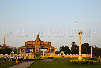 Cambodge, Phnom Penh, Palais Royal, résidence du roi du Cambodge, construit en 1860//Cambodia, Phnom Penh, the Royal Palace, residence of the King of Cambodia, built in 1860