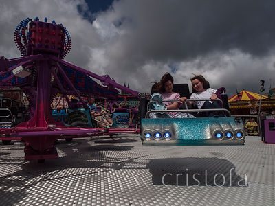 having fun on the Twister at the Golowan fair