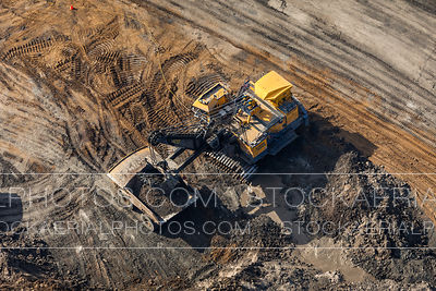 Hydraulic Excavator and Dump Truck
