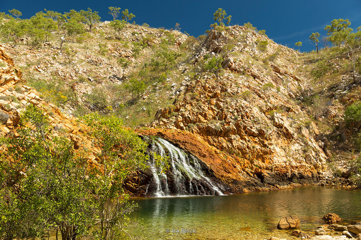 A waterfall at Crocodile Creek in Australia's Kimberley.