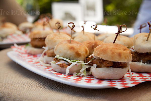 Fried Chicken Sliders at Friday Marketplace Auction Napa Valley 2012. Photo Credit Jason Tinacci